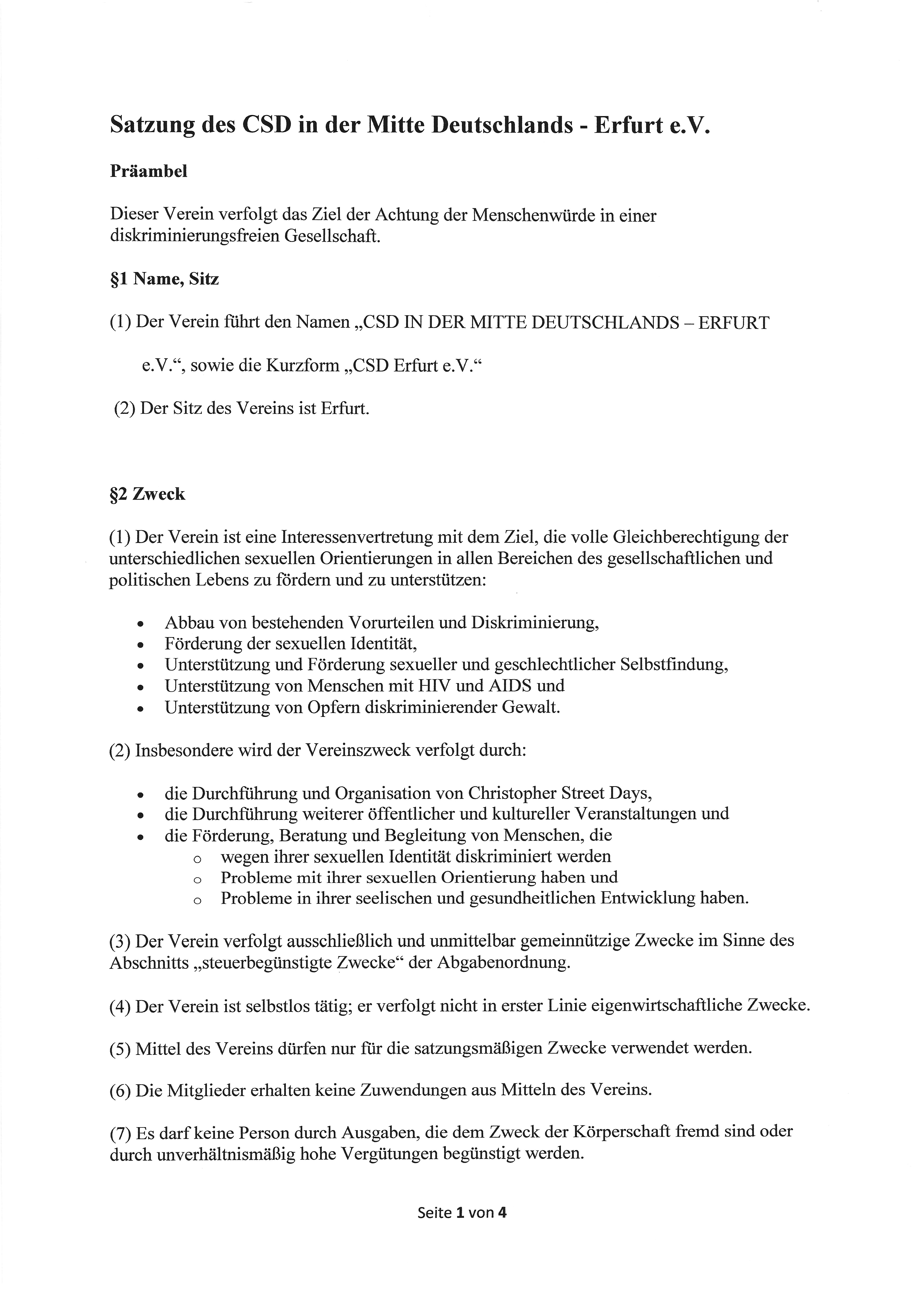 Satzung 2015 Seite 1